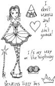 Lindsay Mason Designs - Princess Tippy Toes - Clear Stamp - CICSA6066
